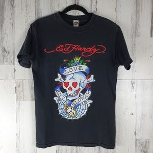 Ed Hardy Love Kills Men's Tee Size Small